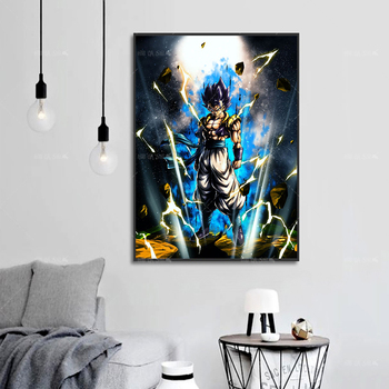 Canvas Painting HD Prints Goku Dragon Ball Z anime Poster Modern Home Decor Modular Picture For Baby Bedroom Living Room Artwork home wall art anime character picture hd prints poster modern canvas painting for baby bedroom living room decor for gift framed