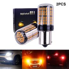 2x3014 144smd CanBus S25 1156 BA15S P21W светодиодный BAY15D BAU15S PY21W лампа T20 светодиодный 7440 W21W W21/5 Вт светодиодный лампы для указатели поворота светильник