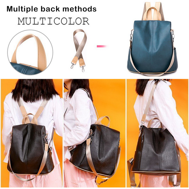H85864000d3c24dc8acb9fe79b8dbf4dds - Fashion Women Waterproof Travel Backpack Anti-theft Oxford Backpack Female School Bags Bagpack For Girls Shoulder Bag