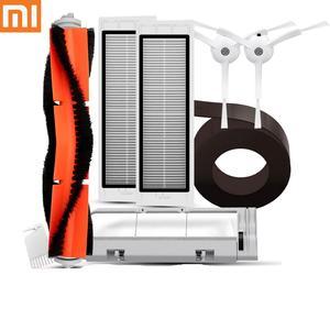Original xiaomi robô vácuo parte pacote de filtro hepa principal escova lateral para xiaomi mijia 1/ 1s aspirador de pó s5