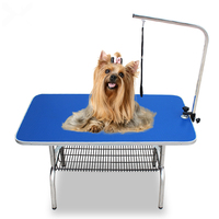 80x50cm Foldable Stainless Steel Pet Grooming Table Small Pet Portable Operating Table Cat Dog Bathing Beauty Table With Bracket