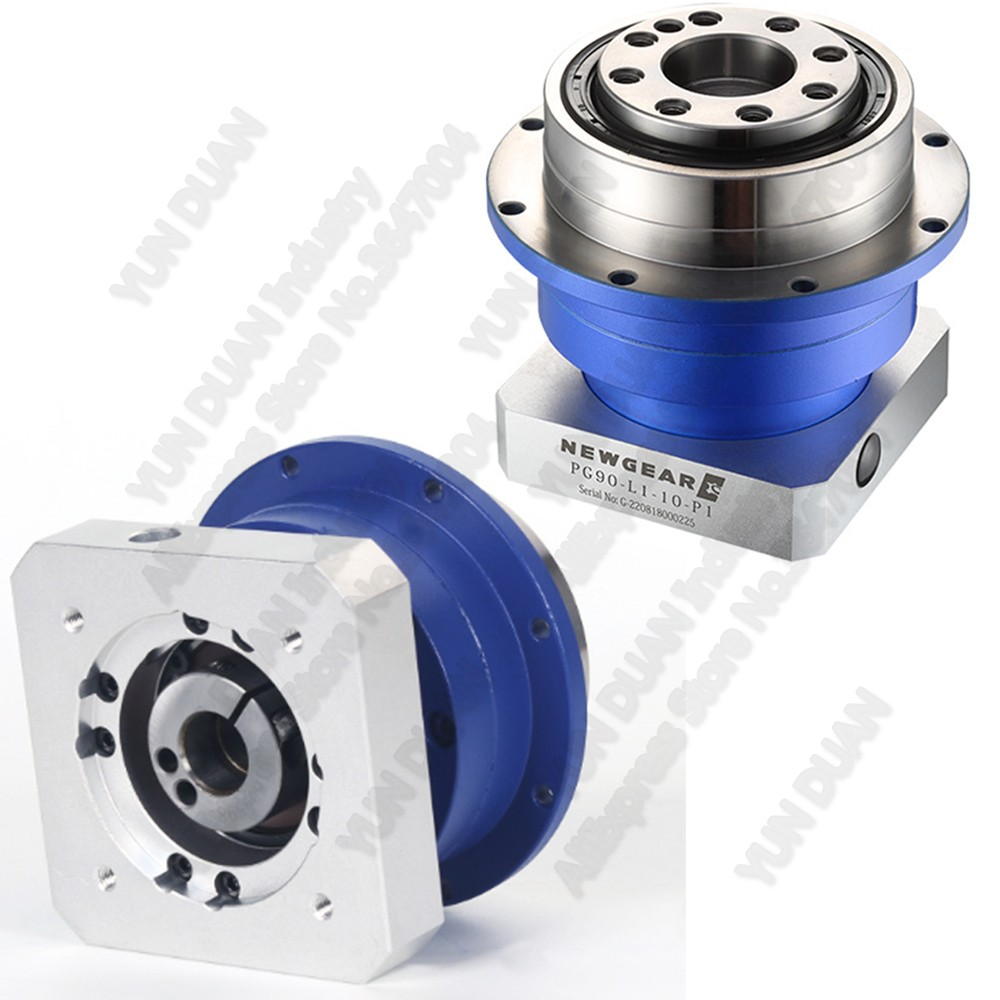 50:1 Ratio Disc Flange output planetary gearbox reducer 50 helical gear Rotating platform NEMA23 57mm stepper motor 8mm for CNC