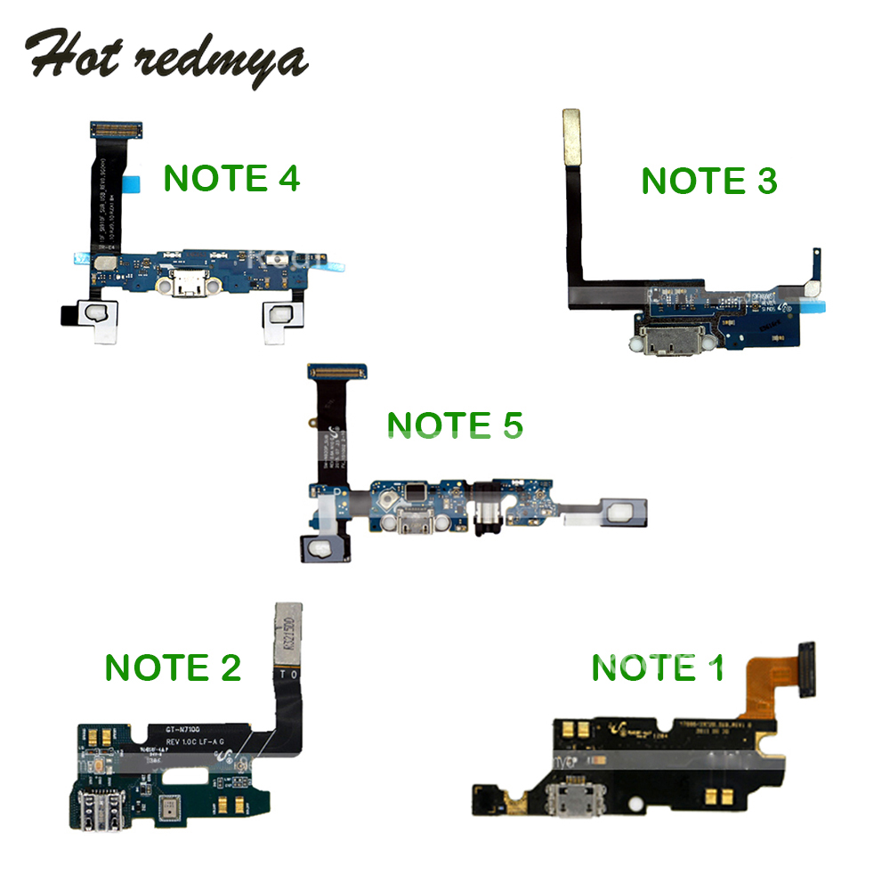 Charger Charging Port Flex Cable USB Dock Connector For Samsung Galaxy Note 1 2 3 4 5 N7000 N7100 N900 N9005 N910F N920F
