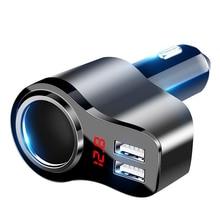 Car-Charger Socket Splitter 12V with Smart IC 12V-24V Outlet Power-Cigarette-Lighter