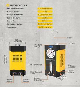 Image 5 - AUTOOL SDT202 SDT206 자동차 자동차 연기 기계 파이프 스모그 생성기 누출 감지 누설 감지기 진단 12V 자동 복구