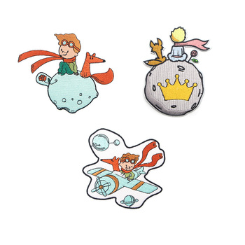 R947 1pcs Le Petit Prince Cartoon Sticker For Clothing Application Patches On Clothes Iron Embroidered Patch For Backpack Badge velcro patch 3d tactical morale slogans army military badge labels embroidered stickers stick on for hats backpack clothes patch