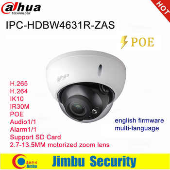 Dahua Ip Camera 6MP POE IPC-HDBW4631R-ZAS 2.7~13.5mm varifocal motorized lens IR30M IP67 built-in SD card slot audio interface - DISCOUNT ITEM  12% OFF All Category