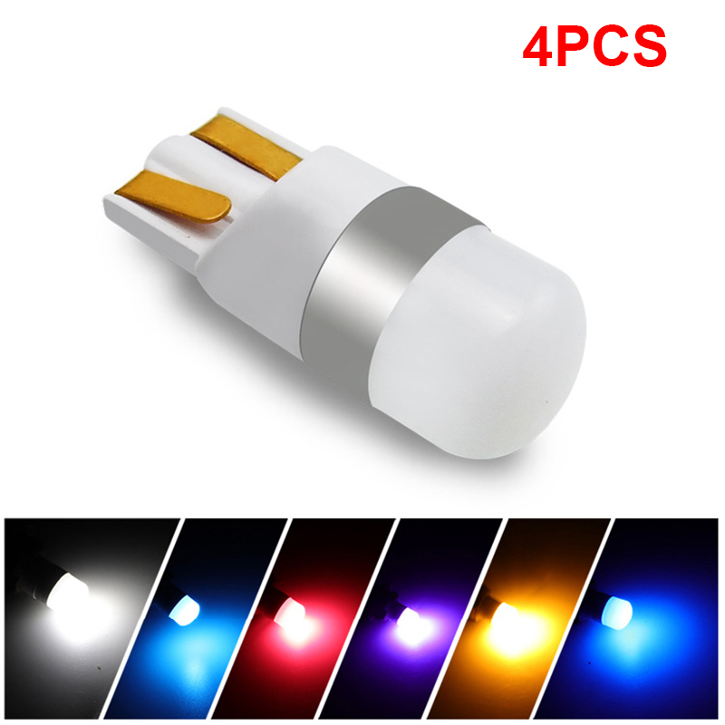 4Pcs T10 <font><b>W5W</b></font> Car <font><b>LED</b></font> Bulbs <font><b>12V</b></font> Canbus Amber Red Auto Clearance Lights For Mercedes Benz W211 W221 W220 W163 W164 W203 C E SLK GL image