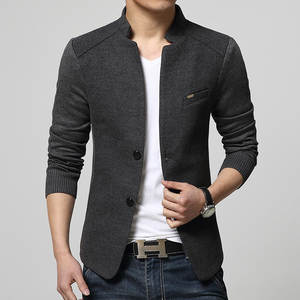 Mens Blazer Suits Coat Slim-Fit Homme Costume Patchwork Woolen New for Top-Quality Red
