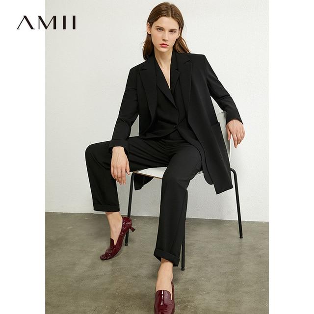 Повседневный женский костюм AMII офис, офисный костюм для женщин 2