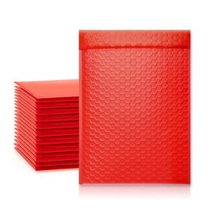 TONESPAC 190*260 мм 25 шт пузырьковая почтовая отправка Мягкий Конверт самоуплотняющийся обертывающийся водонепроницаемый почтовый пакет красный