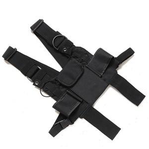 Image 4 - Nylonowa kamizelka taktyczna wojskowa zewnętrzna uprząż radiowa walkie talkie kamizelka ręczna skrzynia Rig Pack etui ratownicze bezpieczeństwo Duty torba na klatkę piersiowa