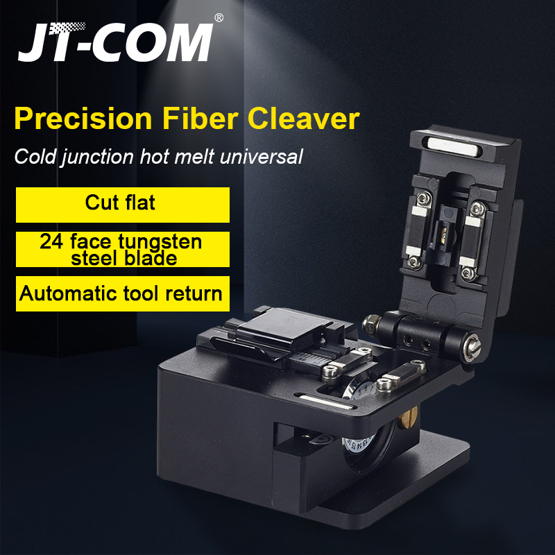 Fiber Cleaver Optical Fusion Cable Cutting Knife FTTH Single Mode Metal Fiber Optic Knife Tools Cutter High Precision Cleavers