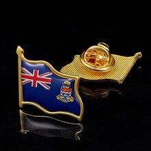 Broche a la moda de las Islas Caimán del Reino Unido, broche de Metal, joyería, accesorios para ropa