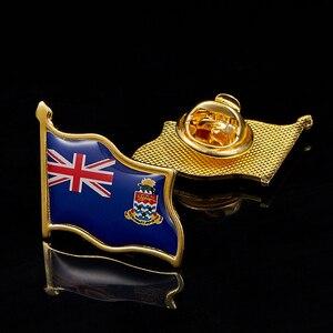Image 1 - Großbritannien Cayman Inseln Mode Brosche Pin Metall Brosche Schmuck Kleidung Zubehör