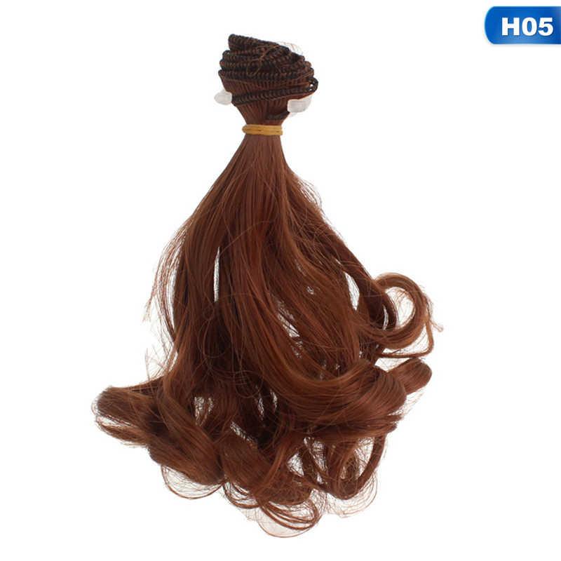 1pcs 15cm בובת פאות בובת שערות פאות בטמפרטורה גבוהה חוט סיבי שיער מתאים עבור 1/3 1/4 1/6 1/12 BJD SD Chole בובה