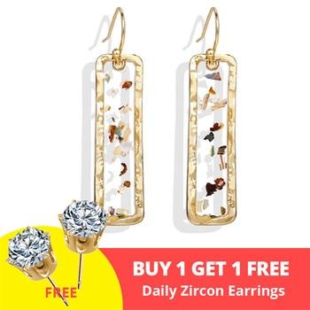 Geometric Shell Earrings For Women Earrings Jewelry Women Jewelry Metal Color: CS5063