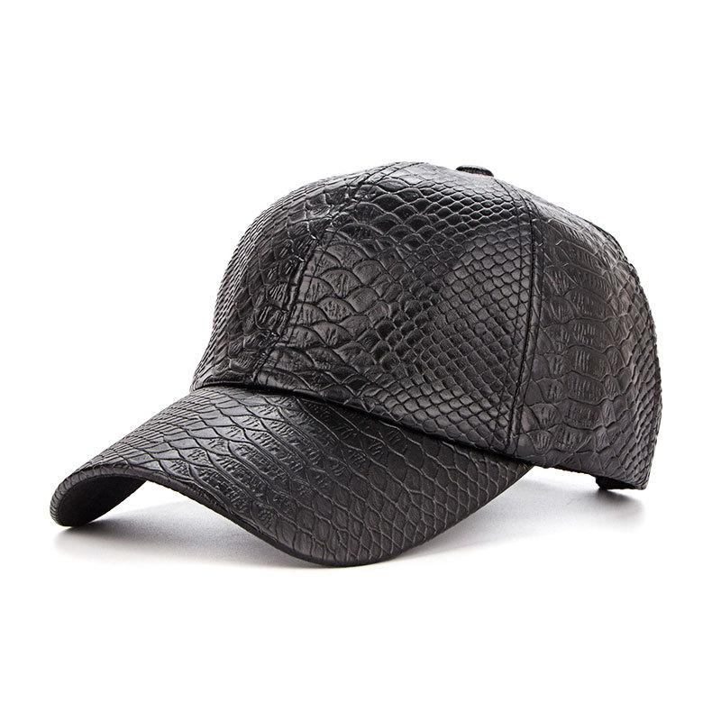 Gorras Baseball-Cap Crocodile-Grain Classic Original Spring Pu-Sunshade-Cap Para Autumn