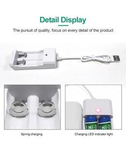 Image 3 - PHOMAX USB 2 yuvaları 1.2V taşınabilir hızlı hattı ile şarj edilebilir aa aaa pil şarj cihazı 2 adet Ni MH/ni cd pil atkı LED şarj cihazı