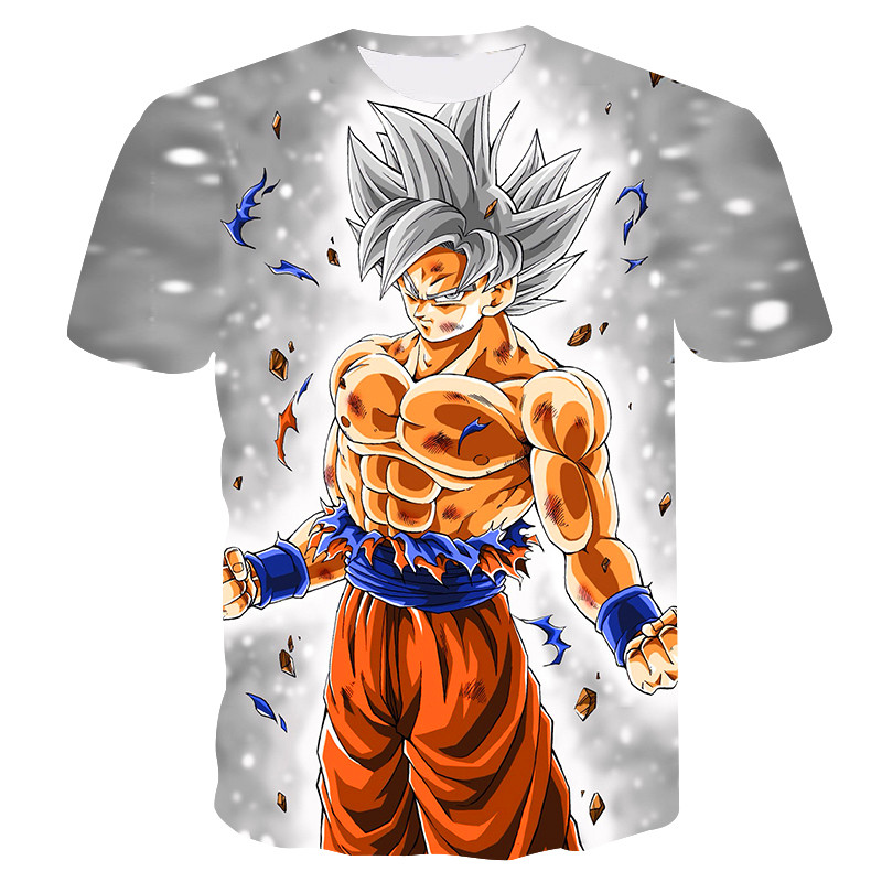 2019 Summer Kids Dragon Ball Z T Shirt 3D Print Anime Goku Vegeta T-shirts Dragonball Shirt Polyester