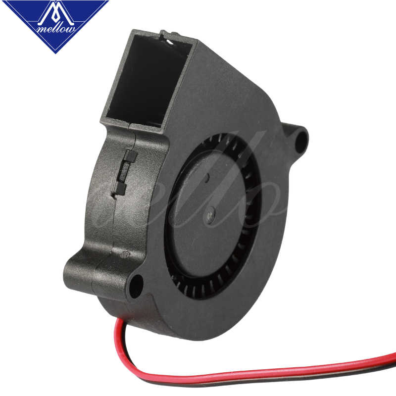 Ventilador de impresora 3D 5015 12V 24V 0.15A, ventilador centrífugo sin escobillas para ventilador de refrigeración Reprap i3 DC, ventilador Turbo 5015S
