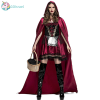 Halloween Little Red Riding Hood Costumes Europe and America Nightclub Queen Deluxe Little Red Riding Hood Stage Costume