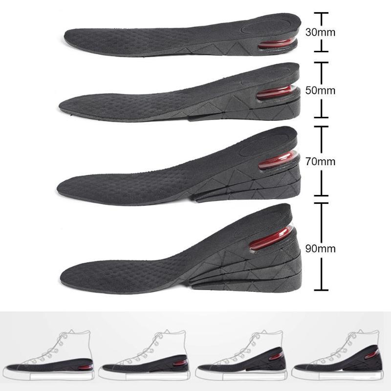 3-9cm Unisex Height Increase Insole Heightening Cushion Adjustable Cut Shoe Heel Insert Taller Lift Shoe Heel Insert Foot Pad