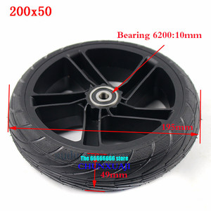 Image 3 - For Xiaomi Ninebot ES1 ES2 ES4 Electric Scooter rear wheel 200x50 Explosion Proof solid tyre 8 inch alloy wheel hub wheel tyre