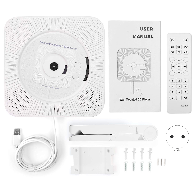 Настенный Bluetooth CD-плеер Пульт дистанционного управления fm-радио встроенный HiFi Bluetooth портативный домашний аудио магнитофон