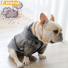 RFWCAK Waterproof Dog Raincoat With Hood Jumpsuit Pet Dog Puppy Rain Coat Cloak Costumes Clothes For Dogs Yorkshire Pet Supplies(China)