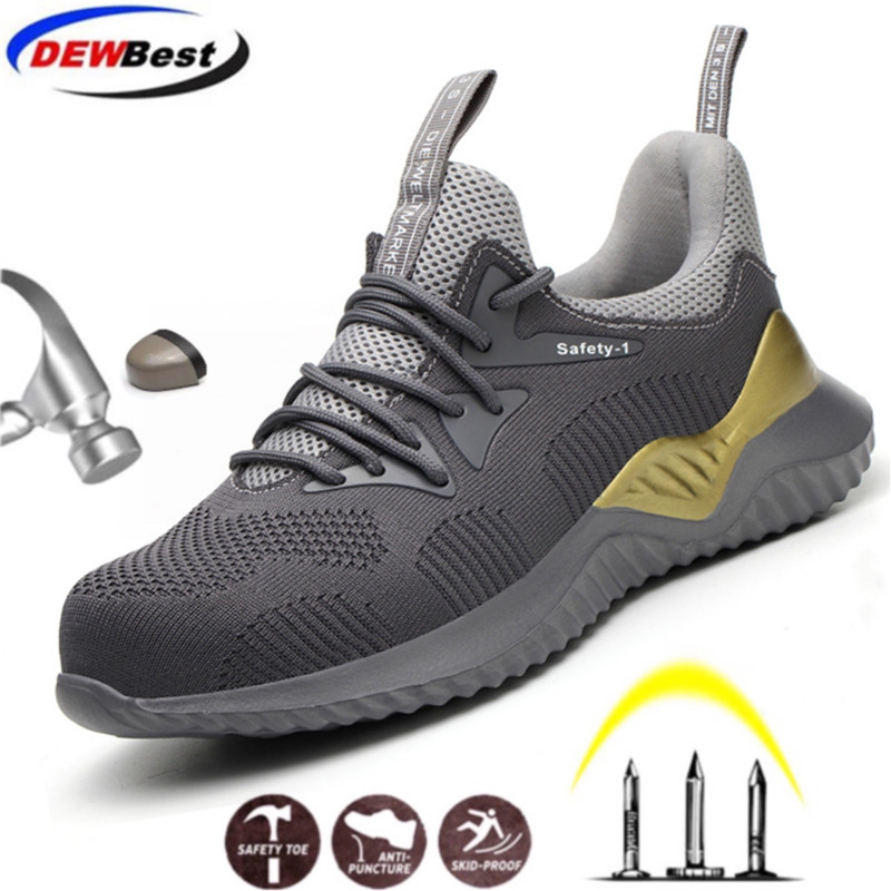 Mens Steel Toe Cap Work Safety Shoes Lightweight Anti-puncture Boots Industrial