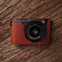 Leica Q Q2 MrStone nouveau Leica Q étui en cuir LEICA Q2 étui pour appareil photo sans poignée demi ensemble typ116