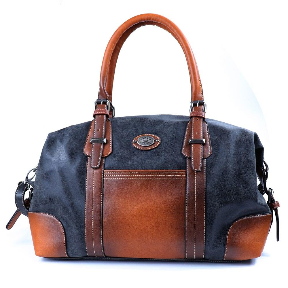 2019 Vintage Women Genuine Leather Handbags Large Capacity Real Leather Tote Bag Luxury Shoulder Bag Brand Ladies Hand Bags