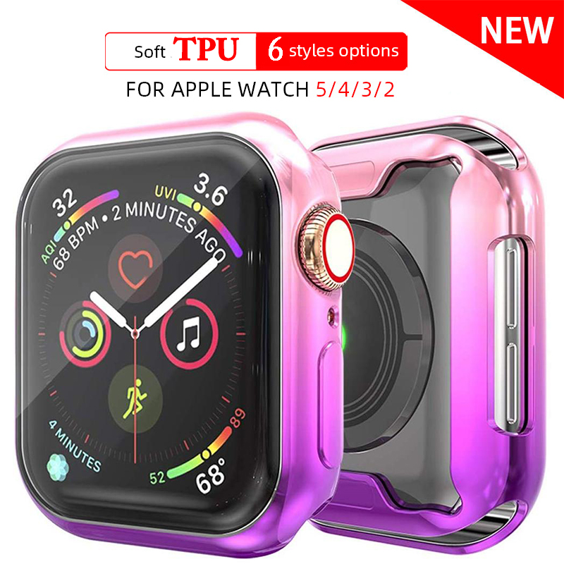 TPU Soft Watch Cover case For Apple Watch 6 se 5 4 band case 44mm 40mm Slim TPU case Protector for iWatch 5 4 44mm protective