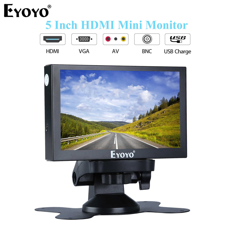 "Eyoyo 15.6/"" IPS Monitor With HDMI VGA USB AV BNC With Remote Control for CCTV"