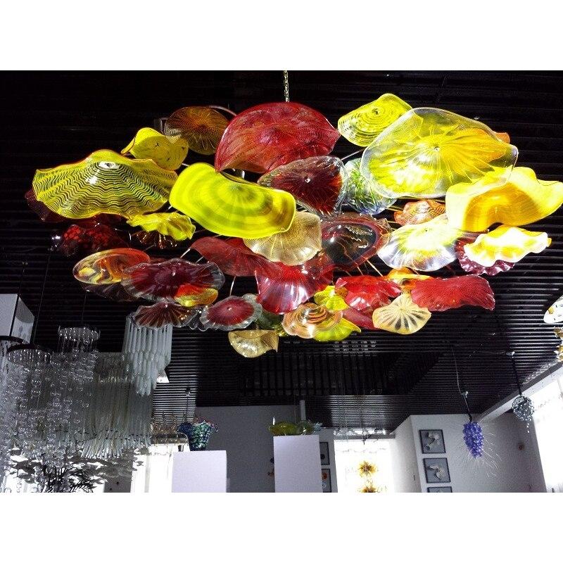 Luxury Flower Lotus Cafe Restaurant Ceiling Room Decoration LED Hanging Chandelier