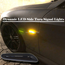 цена на 2pcs led side marker dynamic turn signal indicator lights for BMW F10 X3 E83 X1 E84 X5 E53 E34 E36 E39 E46 E60 E61 E81 E82 E87