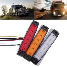6 diodo emissor de luz smd 12v branco vermelho azul amarelo para o caminhão reboque lateral do recolhimento marcador indicador lâmpadas caravana trator kart