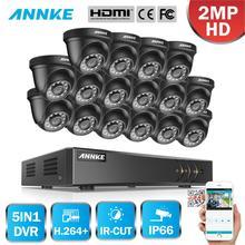 ANNKE 1080P 16CH CCTV Kamera DVR System 16 stücke Wasserdichte 2.0MP HD-TVI Dome Kameras Home Video Surveillance Kit Motion erkennung