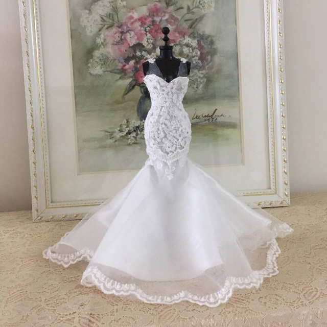 Hot DIY Handmade Sewing Clothes Mini Doll Wedding Dress Accessories Kit For Children Kids Educational Toys Birthday Gift - 01 2
