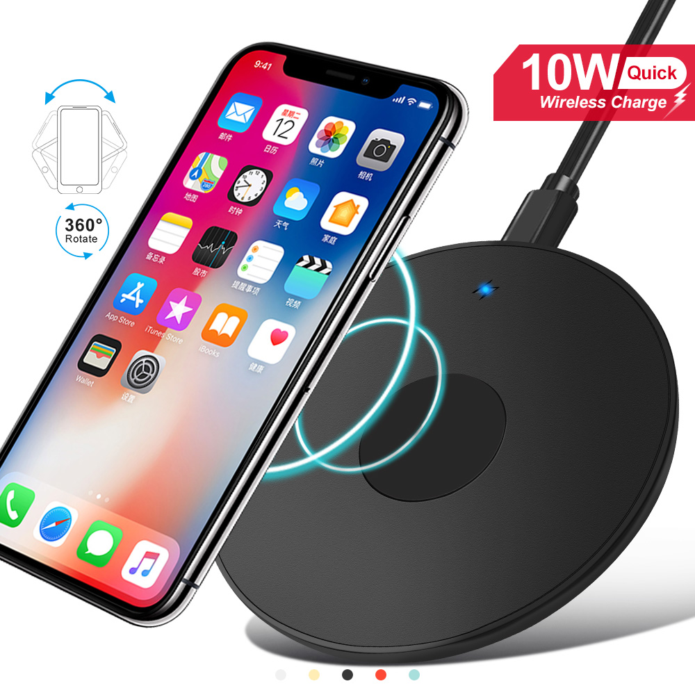 No AC Adapter 11 Pro Max Note 10,9 AHUTORU Fast Wireless Charger Samsung S10 S9 S8 XR XS Max X XS Qi-Certified 10W Wireless Charging Stand with Quick Adapter,Compatible with iPhone 11 11 Pro
