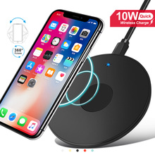 10w Qi Fast wireless Charging For Iphone 11 Pro X Xs Max XR For Samsung S8 S9 S10 Plus Note 10 9 Charging Pad wireless Charger
