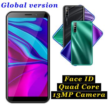 A6 smartfonów czterordzeniowy 4GB pamięci RAM 64GB telefonów komórkowych z systemem Android wersja globalna telefonów komórkowych odblokowany Face ID 13MP kamera tylna 3G Wifi tanie i dobre opinie BYLYND Odpinany Nowy Rozpoznawania twarzy Do 48 godzin 3200 Adaptacyjne szybkie ładowanie Smartfony Bluetooth 5 0 Pojemnościowy ekran