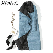 2020 New 90% White Duck Down Jacket Women Two Side Wear Ultr