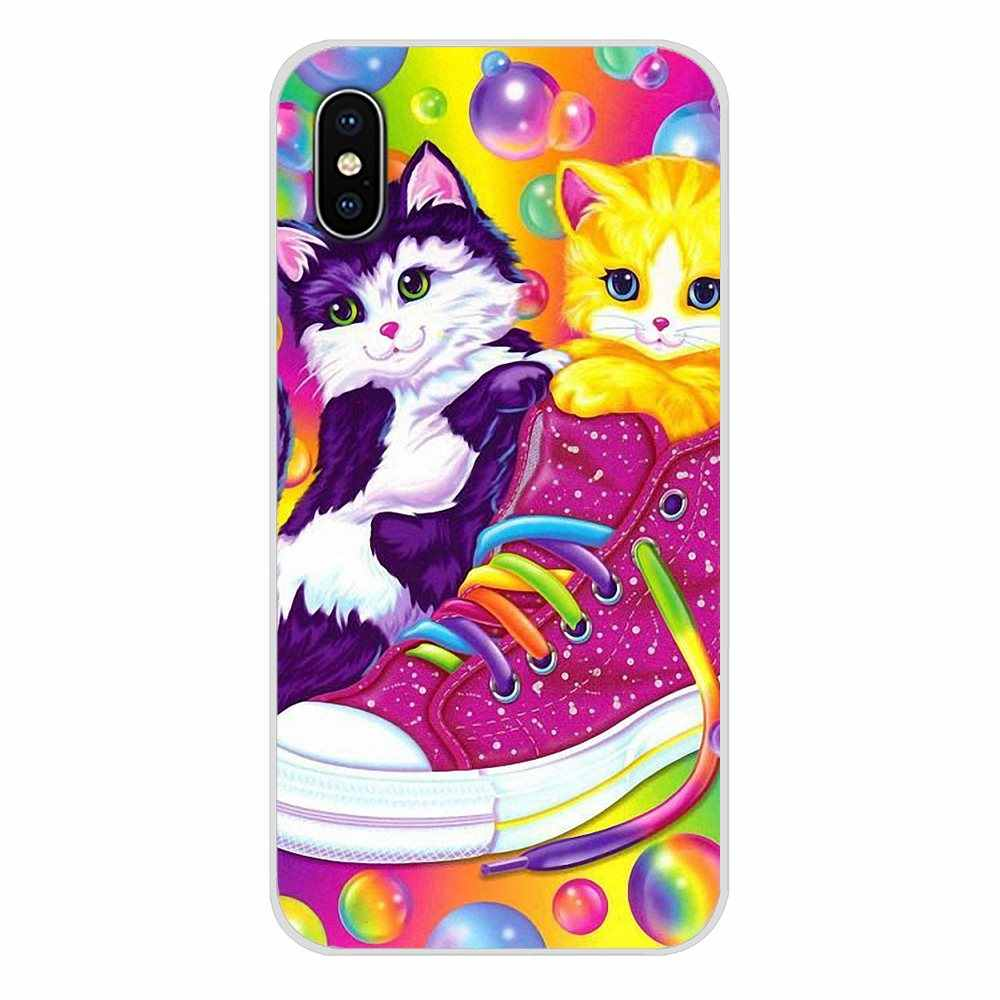 Regenboog Lisa Frank tijger paard hond Kat Voor Apple iPhone X XR XS 11Pro MAX 4S 5S 5C SE 6S 7 8 Plus ipod touch 5 6 Telefoon Skin Case