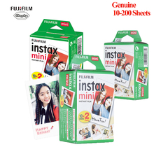 Fujifilm Instax Mini Film 8 9 Film 10-200 arkusz Mini biały papier fotograficzny do aparatu Instax Mini7s 50s 90 papier fotograficzny biały tanie tanio Natychmiastowa Film Fujifilm instax mini 8 9 film 10 20 30 40 50 60 Sheets Optional Films