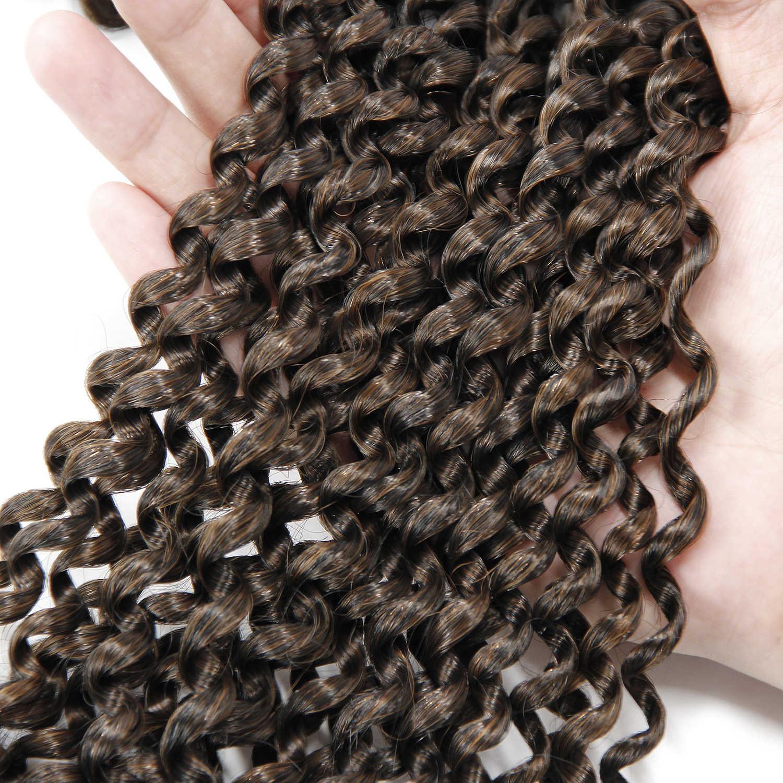 18 ''häkeln Braid Haar Für Flechten Synthetische Haar Verlängerung Leidenschaft Twist Lange Böhmischen Lockige Häkeln Haar