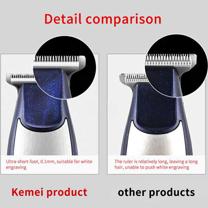 Kemei-5021 Barba Capelli Trimmer Per Gli Uomini Rasoio Ricaricabile Tagliatore di Capelli Elettrico Trimero macchina di Taglio Dei Capelli Del Barbiere Moser Mute