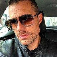 Oversized Sunglasses Men Women Vintage Sun Glasses for Man Rimless Shades Steampunk Sunglass Gradient Fashion