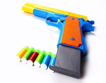 toy 1pcs Classic M1911 Toys Pistol Childrens Toy Guns Soft Bullet Gun Plastic Revolver Kids Outdoor Fun Game Shooter